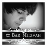 Varón negro 2 del metal plateado de Mitzvah de la Comunicado Personal