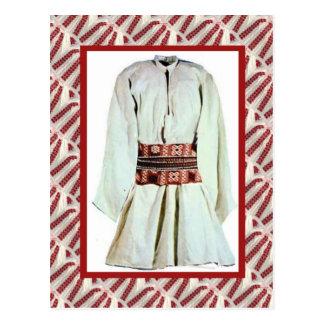 Varón popular emboidered vintage del traje tarjeta postal