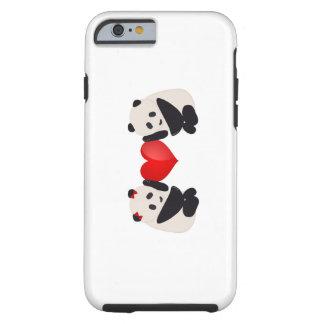Varón y hembra de la panda con el corazón