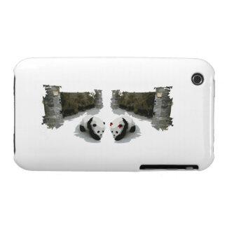 Varón y hembra de la panda Case-Mate iPhone 3 fundas