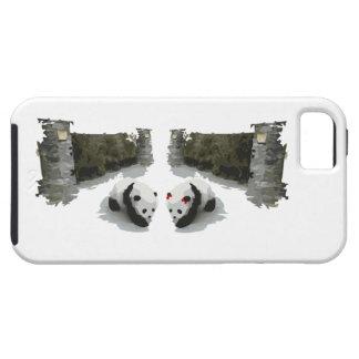 Varón y hembra de la panda iPhone 5 carcasa