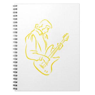 varón yellow.png del esquema del bajista libreta espiral