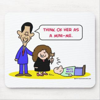 Varones blancos del sotomayor de Obama mini-yo Tapete De Ratones