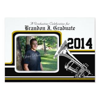 Varsity Band Trumpet Graduation Photo Gold Card