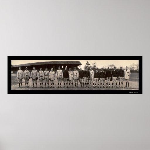 Varsity Baseball Yale Photo 1910 Poster