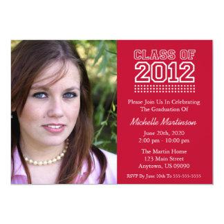 Varsity Class Of 2012 Graduation (Burgandy Red) Custom Invitations