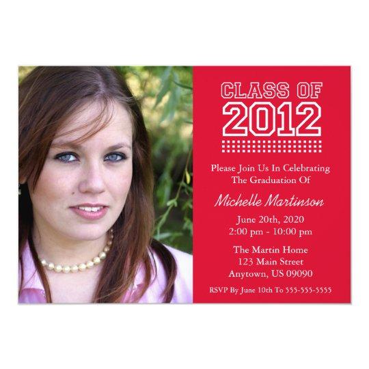 Varsity Class Of 2012 Graduation (Red) Card