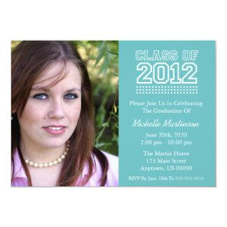 Varsity Class Of 2012 Graduation (Turquoise) Card