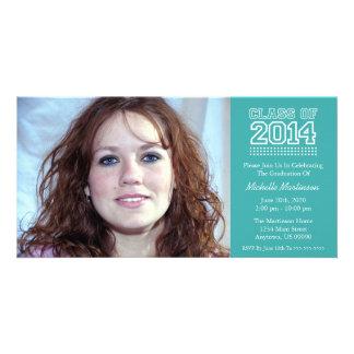 Varsity Class Of 2014 Graduation (Aqua) Picture Card