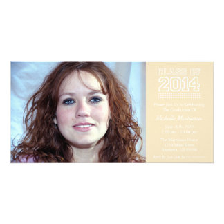 Varsity Class Of 2014 Graduation (Cream) Personalized Photo Card