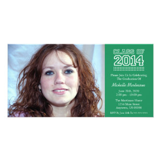 Varsity Class Of 2014 Graduation (Green) Picture Card