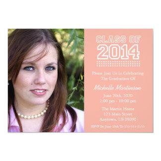 Varsity Class Of 2014 Graduation (Peach) Personalized Invite