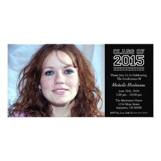 Varsity Class Of 2015 Graduation (Black) Photo Card