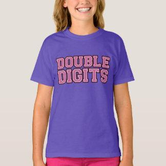 VARSITY Double DIGITS #10 BIRTHDAY Tee