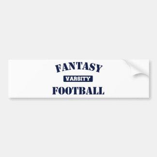Varsity Fantasy Football Bumper Sticker