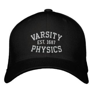 VARSITY, PHYSICS, EST. 1687 black and white Cap