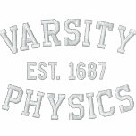 VARSITY, PHYSICS, EST. 1687 black and white Embroidered Shirt