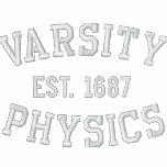 VARSITY, PHYSICS, EST. 1687 black and white Polo Shirt