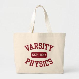 Varsity Physics Large Tote Bag