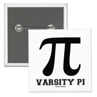 Varsity Pi (Pi Mathematical Constant) Button