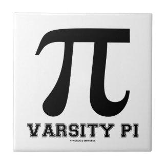 Varsity Pi Pi Mathematical Constant Ceramic Tile