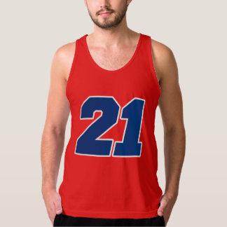 Varsity Red, White & Blue #21 BIRTHDAY Tees