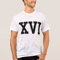 VARSITY Roman NUMERALS 16th Birthday Tee