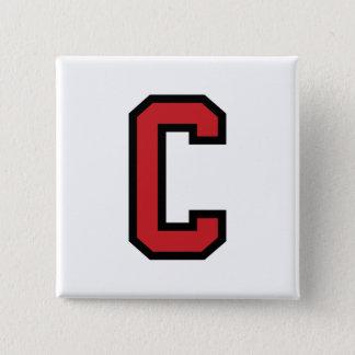 Varsity Sport | Letter C | Red Black Button