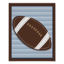Varsity Sports Football Boy Nursery Wall Art Print