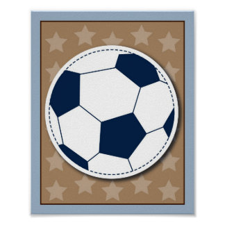 Varsity Sports Soccer Boys Nursery Wall Art Print