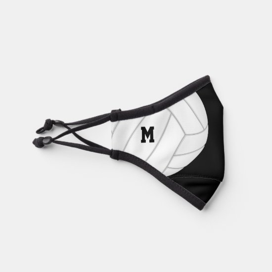 varsity stripes boys girls personalized volleyball premium face mask