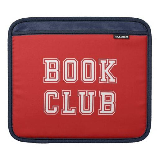 Varsity Style Book Club with Editable Color iPad Sleeve