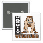 varsity wrestling 2 inch square button