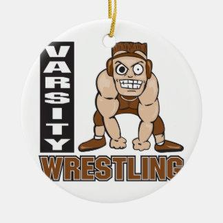varsity wrestling christmas ornament