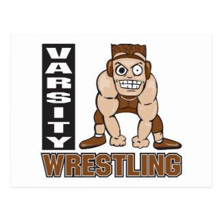 varsity wrestling postcard