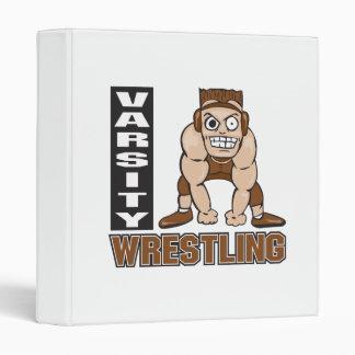 varsity wrestling vinyl binder