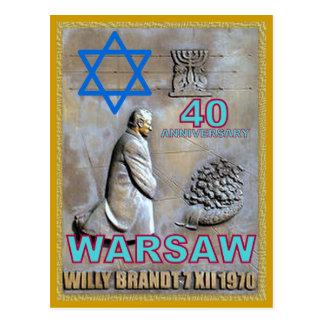 VARSOVIA -. aniversario 40 del gesto memorable Tarjetas Postales