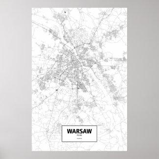 Varsovia, Polonia (negro en blanco) Impresiones