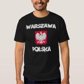 Varsovia, Polska, Varsovia, Polonia con el escudo Remeras