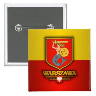 Varsovia (Varsovia) Pin Cuadrado