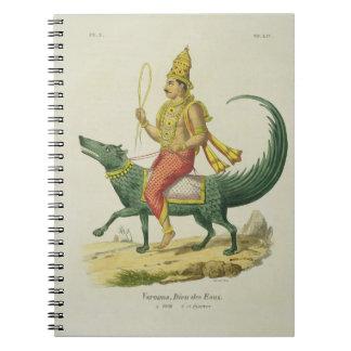Varuna, dios de los océanos, grabado por Charles E Libro De Apuntes