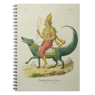 Varuna, God of the Oceans, engraved by Charles Eti Spiral Notebook
