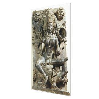 Varunani, tallando del templo de Konark Sun, Oris Impresiones En Lona