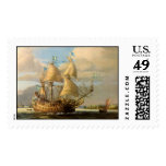 Vasa painting postage stamp