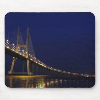 Vasco da Gama Bridge over River Tagus in Lisbon Mouse Pads