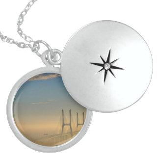 Vasco da Gama Bridge Sterling Silver Necklace