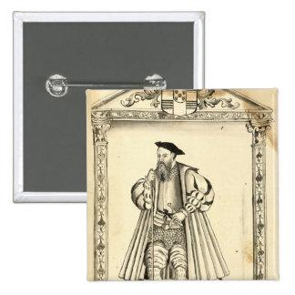 Vasco da Gama de 'Lendas DA India Pin Cuadrado