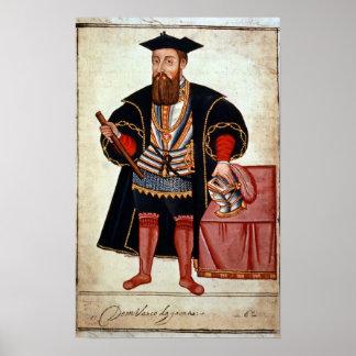 Vasco da Gama , illustration Poster