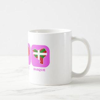 Vasco del amor de la paz tazas de café