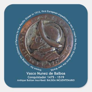 Vasco Núñez de Balboa Calcomanías Cuadradass